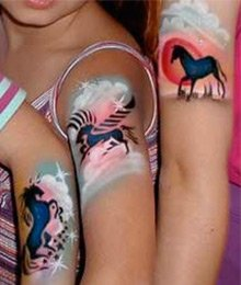 Air Brush Tattoos for parties