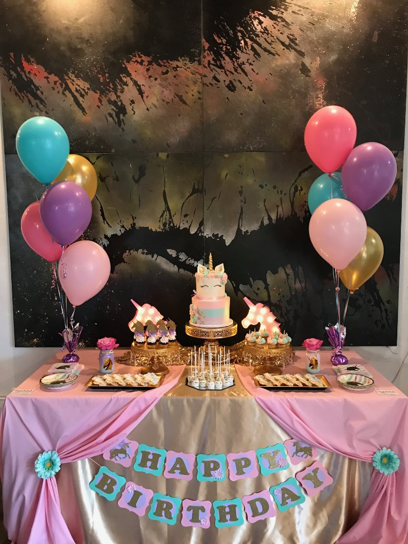 Pastel Unicorn Dessert Table Giggle Factory La