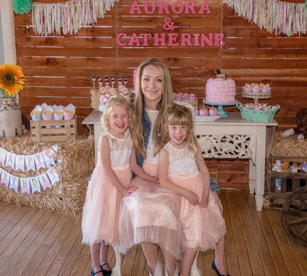 Catherine and Aurora's 5th Shabby Chic Pony birthdays